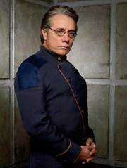 Admiral Bill Adama as played By Edward James Olmos in Battlestar Galactica SO SAY WE ALL!Admiral Bill Adama as played By Edward James Olmos in Battlestar Galactica SO SAY WE ALL!